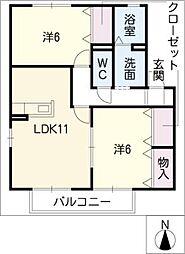 レインボー7[1階]の間取り