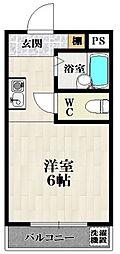 カーサ天美[4階]の間取り