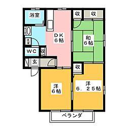 セリエB[1階]の間取り