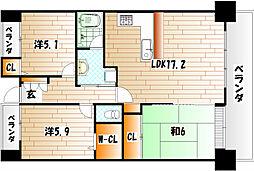 アールフォーレ戸畑駅東 312号室[3階]の間取り