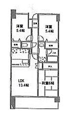 Salle de Verdure(セルデベルデュール)[1階]の間取り