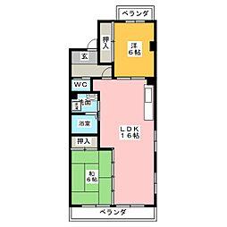 ヴィーブル小田井[5階]の間取り