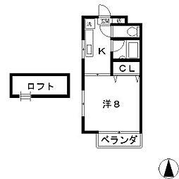 サンヴォーレ三輪[1階]の間取り