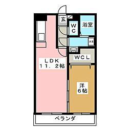 リバーサイドI[3階]の間取り