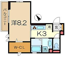 神奈川県横浜市港南区港南中央通の賃貸アパートの間取り