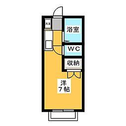 エステートピア神村 WEST[1階]の間取り