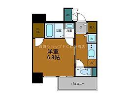 Osaka Metro千日前線 谷町九丁目駅 徒歩7分の賃貸マンション 3階1Kの間取り