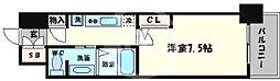 ブリリアント大阪西 10階1Kの間取り