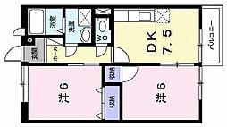 エスポワール21B[2階]の間取り