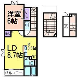 AKANE(アカネ)[3階]の間取り