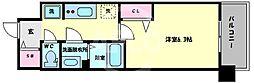 プレサンス森ノ宮THEゲート 9階1Kの間取り