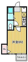 神奈川県川崎市中原区上丸子山王町1丁目の賃貸マンションの間取り