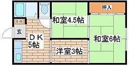 兵庫県神戸市長田区檜川町1丁目の賃貸マンションの間取り