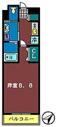 サプール津田沼[105号室]の間取り