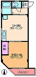 埼玉県川口市西青木3丁目の賃貸マンションの間取り