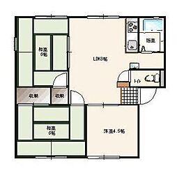 松本ハイツC棟[1階]の間取り