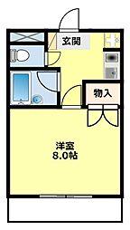 愛知県豊田市柿本町5丁目の賃貸マンションの間取り