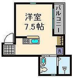 東京都足立区柳原2丁目の賃貸アパートの間取り