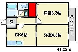 ピースフルスペース[2階]の間取り