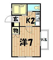 プエンテピソ和田町[202号室]の間取り