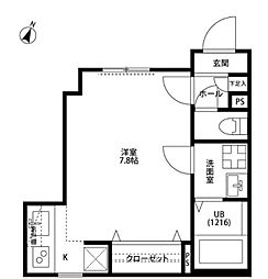 東京都中野区上鷺宮3丁目の賃貸アパートの間取り