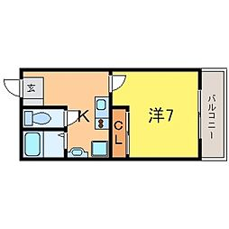 兵庫県神戸市東灘区魚崎北町2丁目の賃貸マンションの間取り
