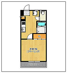 高杢ビル[305号室]の間取り
