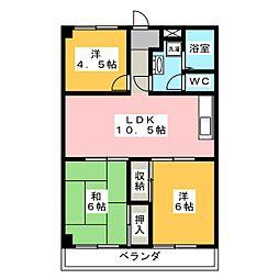 グローバルマンション[2階]の間取り