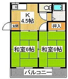 原木東邦マンション[1階]の間取り