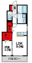 JR鹿児島本線 福工大前駅 徒歩5分の賃貸アパート 1階1LDKの間取り