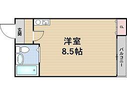 リバーライズ八戸ノ里[6階]の間取り