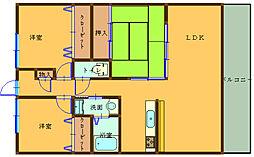 エスパシオ西庄[3階]の間取り