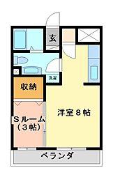 ルミエールヤナセ B[1階]の間取り