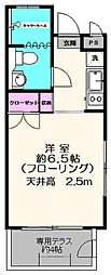 駒沢ハイツ[101号室]の間取り
