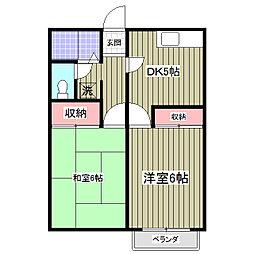 モンシャトー大曽根[202号室]の間取り