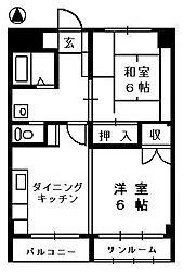 メゾンヒカリ[2階]の間取り