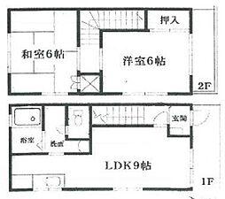 [テラスハウス] 神奈川県相模原市中央区上溝3丁目 の賃貸【/】の間取り