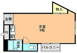 奈良県生駒郡平群町竜田川3丁目の賃貸マンションの間取り