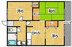 シティハイム レザント[2階]の間取り