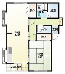 きくやマンションII[2階]の間取り
