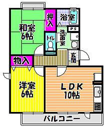 マンション菊水[1階]の間取り