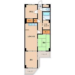 サンハイム砂山[2階]の間取り