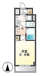 ライジングコート名古屋駅前東[6階]の間取り
