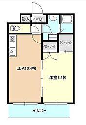 東京都板橋区上板橋1丁目の賃貸マンションの間取り