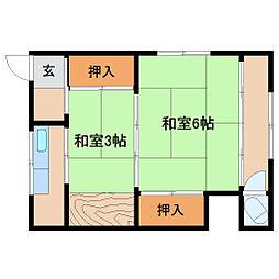 高谷文化[2階]の間取り