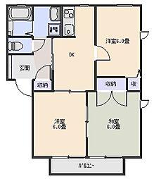 サンフォレストB[2階]の間取り