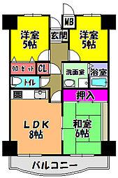 プレスト・コート弐番館[1階]の間取り