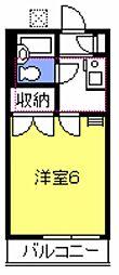 プチハウス武蔵野[202号室号室]の間取り