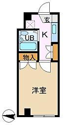 ヌーベル鴨居[3階]の間取り