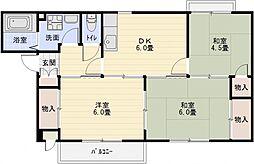 サンヴィレッジ上尾2[1階]の間取り